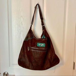 Kathy Van Zeeland brown pocketbook